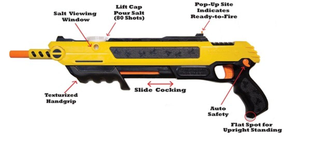 The Bug-A-Salt Fly Gun