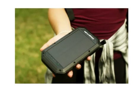Halo Wireless Solar Power Bank with Light